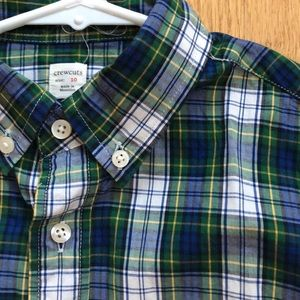 JCrew Boys' plaid dress shirt